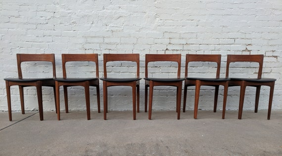 Mid Century Modern Danish Inspired Teak Chair Set