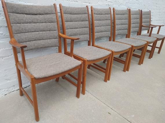 Mid Century Modern Danish Teak Dining Chairs