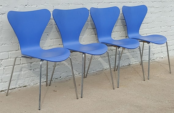 Mid Century Danish Modern Fritz Hansen Series 7 Chairs