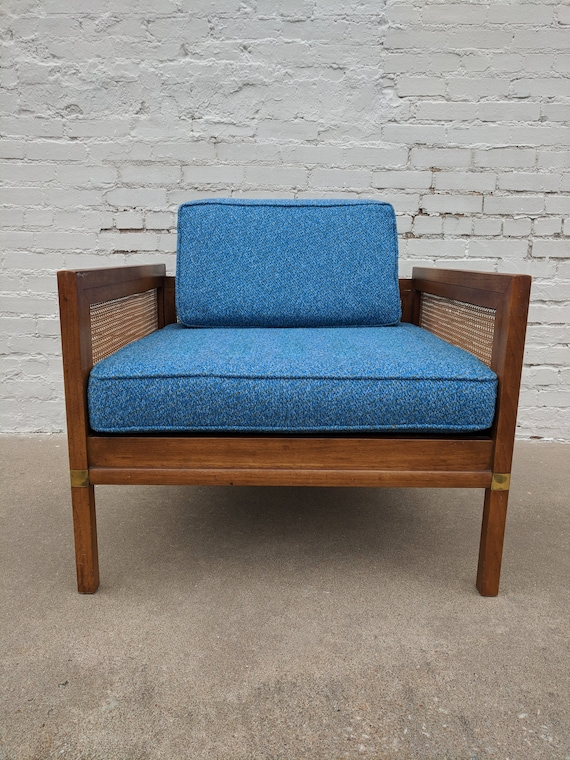 Mid Century Modern Hickory Manufacturing Company Cane Lounge Chair