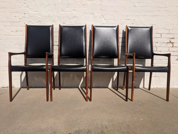 Mid Century Modern Mogens Kold Rosewood Dining Chair Set of 4