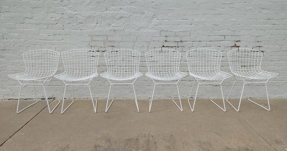 Mid Century Modern Bertoia Wire Chairs