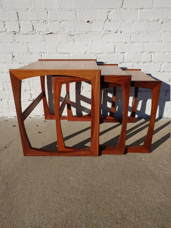 Mid Century Modern G Plan Teak Nesting Tables