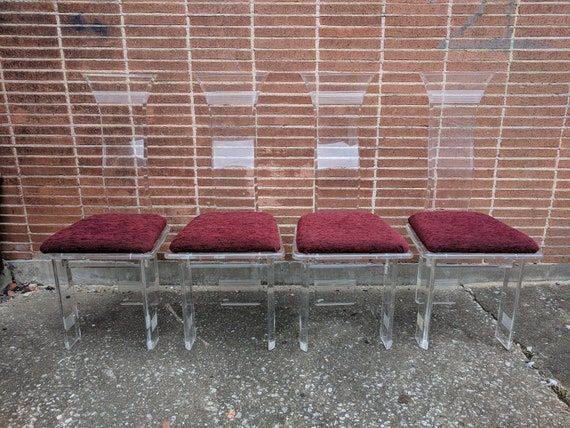 Mid Century Modern Acrylicore Lucite Dining Chairs