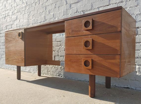 Mid Century Modern Teak Desk by Uniflex