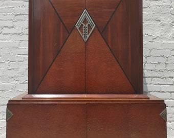 Art Deco Rosewood and Burlwood Cabinet