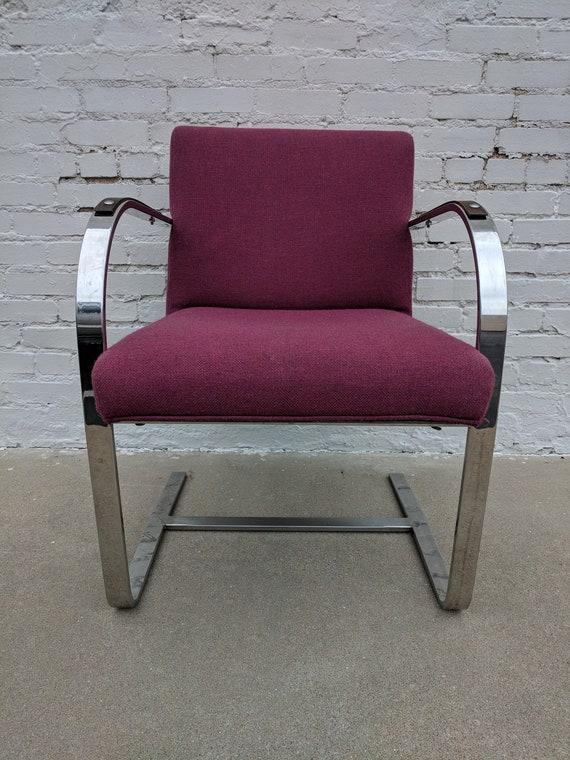 Mid Century Modern Mies Van Der Rohe Flat Bar Chair
