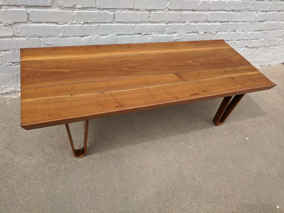 Mid Century Modern Edward Wormley for Dunbar Coffee Table Bench
