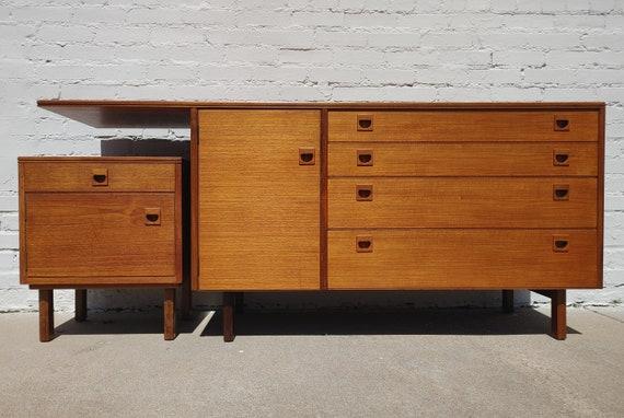 Mid Century Modern Danish Inspired Cabinet Set