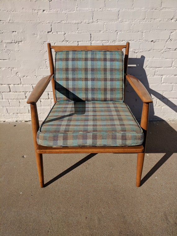 Mid Century Modern Baumritter Solid Wood Lounge Chair