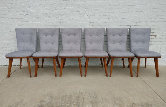 Mid Century Modern Bissman Solid Walnut Dining Chairs