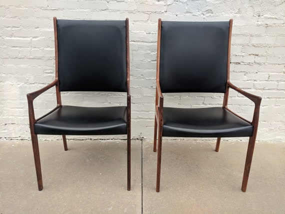 Mid Century Modern Johannes Andersen for Mogens Kold Rosewood Pair of Chairs