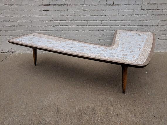 Mid Century Modern Lane Laminate Boomerang Coffee Table