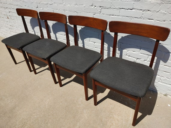 Mid Century Modern Teak Dining Chairs by Nathan