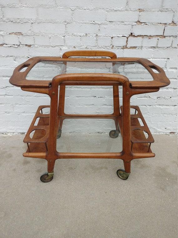 Mid Century Modern Ico Parisi Rolling Bar Cart