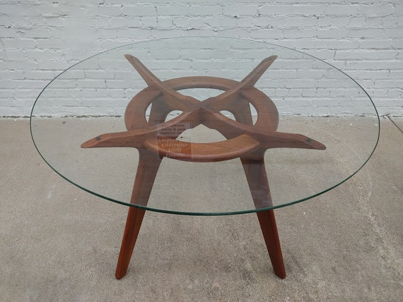 Mid Century Modern Adrian Pearsall Compass Dining Table