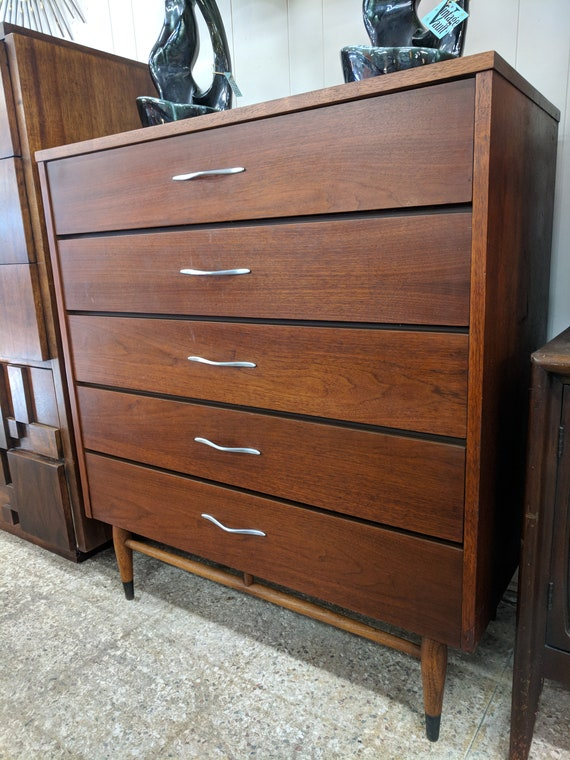 Mid Century Modern Lane Acclaim Tall Boy Dresser