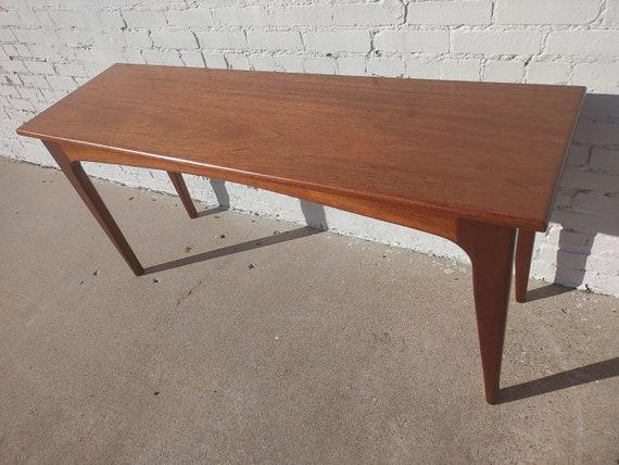 Mid Century Danish Modern Solid Teak Sofa Table