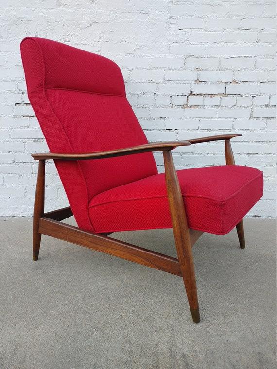 Mid Century Modern Solid Walnut Side Chair