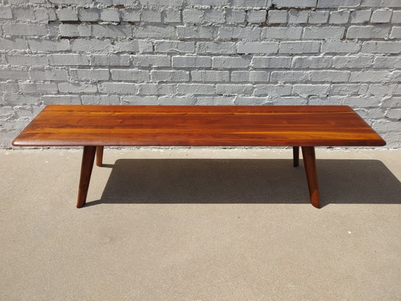 Mid Century Modern Bissman Solid Walnut Coffee Table