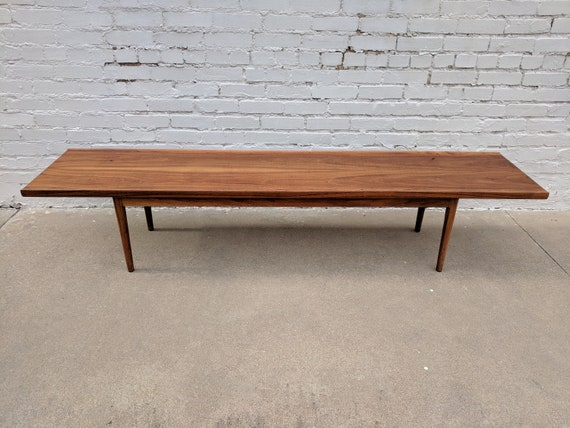 Mid Century Modern Drexel Walnut Coffee Table