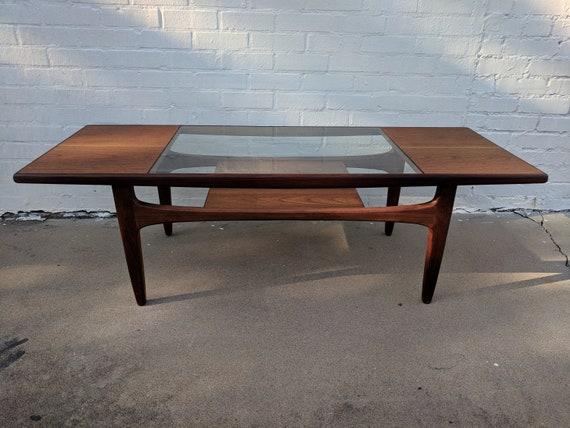 Mid Century Modern G Plan Glass and Teak Coffee Table