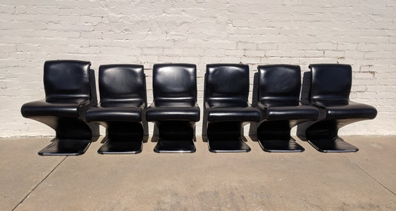 Mid Century Modern Gastone Rinaldi Z Chairs Set of 6