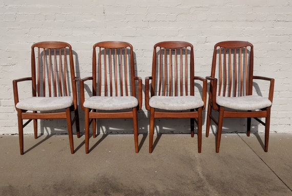 Mid Century Modern Benny Linden Teak Dining Chairs Set of 5