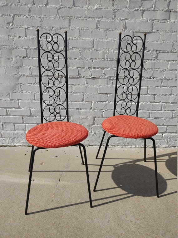 Mid Century Modern Umanoff Iron Chairs