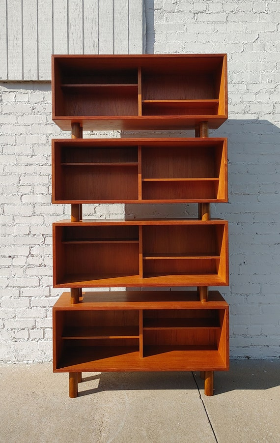 Mid Century Danish Modern Teak Wall Cabinets