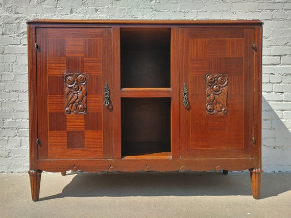 Old English Carved Oak Buffet