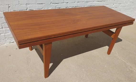 Mid Century Danish Modern Escalator Coffee Table by Trioh