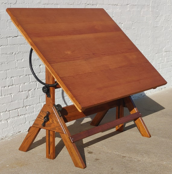 Modern Solid Wood Adjustable Drafting Table