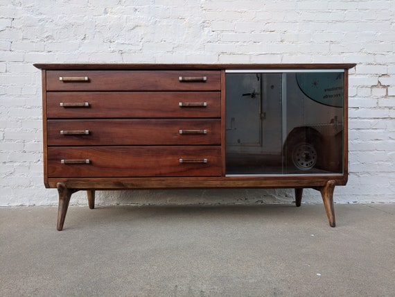 Mid Century Modern Renzo Rutili for Johnson Cherry Credenza