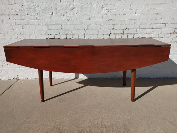 Drexel Parallel Drop Leaf Dining Table