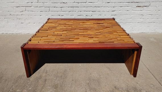 Mid Century Modern Percival Lafer Brutalist Coffee Table