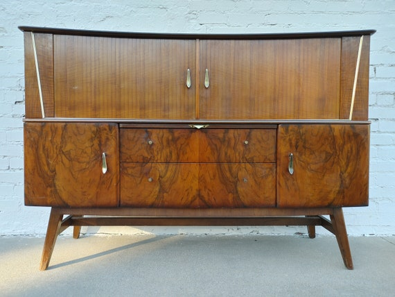 Mid Century Modern English Bar/Sideboard
