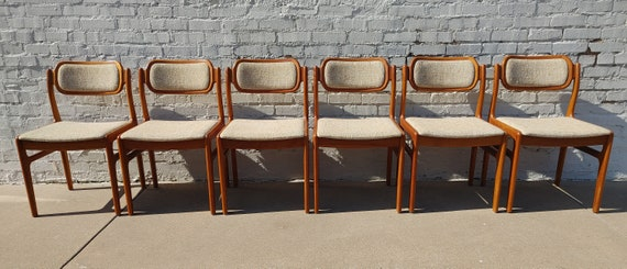 Mid Century Modern DScan Teak Dining Chair Set of 6