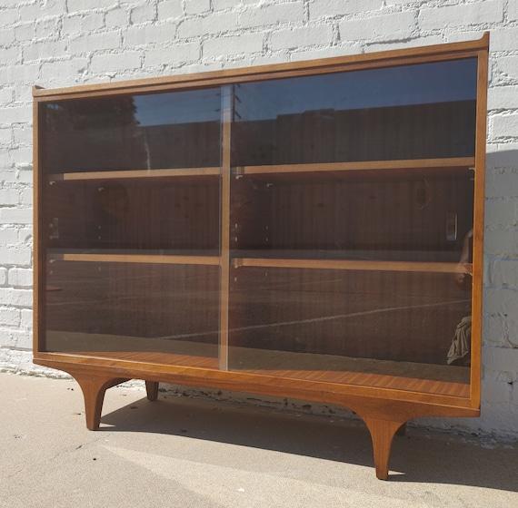 Mid Century English Modern Teak Bookcase