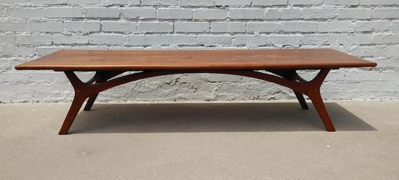 Mid Century Modern Kagan Inspired Solid Walnut Coffee Table