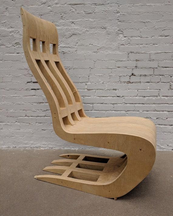 Mid Century Modern Style Custom Built Bentwood Chair