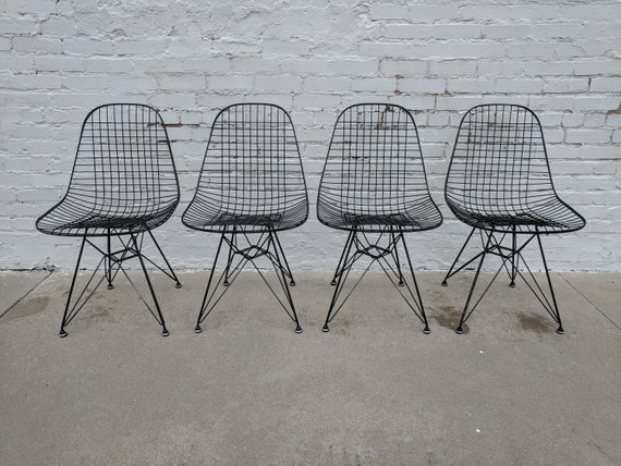 Mid Century Modern Herman Miller DKR Chair Set of Four