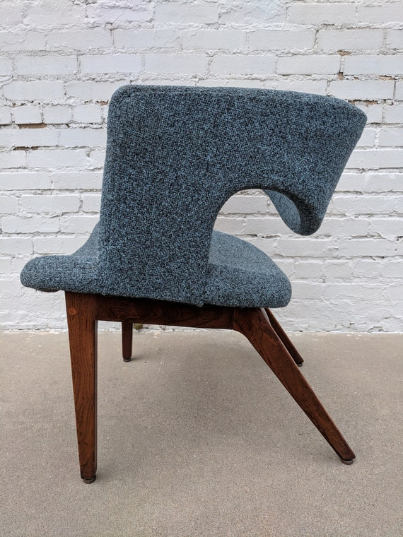 Mid Century Modern Knoll Style Upholstered Side Chair