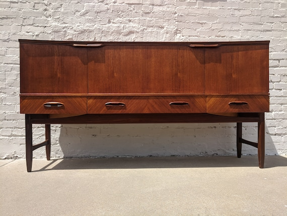 Mid Century Modern Danish Inspired Teak and Oak Credenza