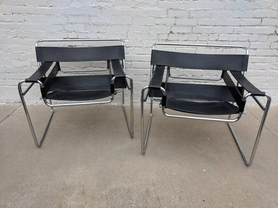 Mid Century Modern Marcel Breuer Style Wassily Chair