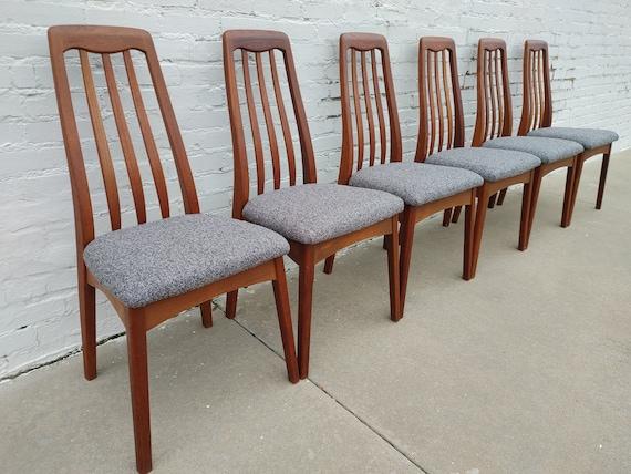 Mid Century Modern Benny Linden Solid Teak Dining Chairs
