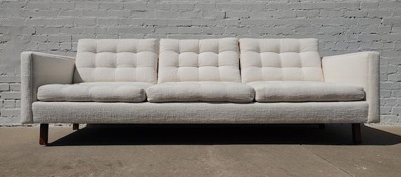 Mid Century Danish Modern Tufted Sofa