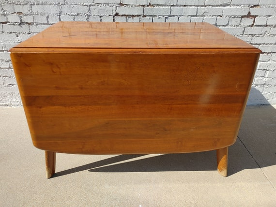 Mid Century Modern Bissman Solid Walnut Dining Table