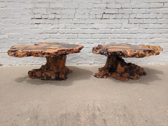 Mid Century Modern Original Stardust Burlwood Coffee Tables