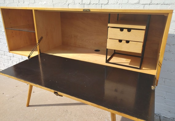 Mid Century Modern McCobb Planner Group Drop Lid Desk